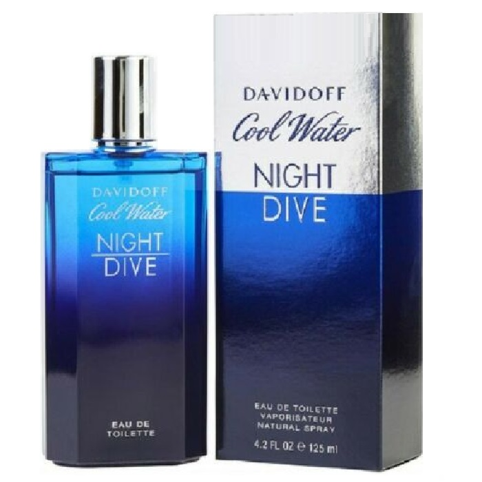 Cool Water Night Dive Cologne by Davidoff 4.2oz Eau De Toilette Spray for men